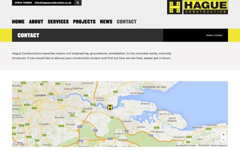 Screenshot of Contact Page hagueconstruction.co.uk - Contact Us | Discuss your construction project | HCL Group - captured July 10, 2016