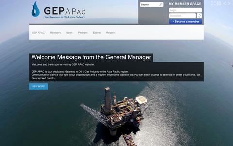 Screenshot of Home Page gepapac.com - GEP APac | Your Gateway to Oil & Gas Industry - captured Dec. 5, 2015