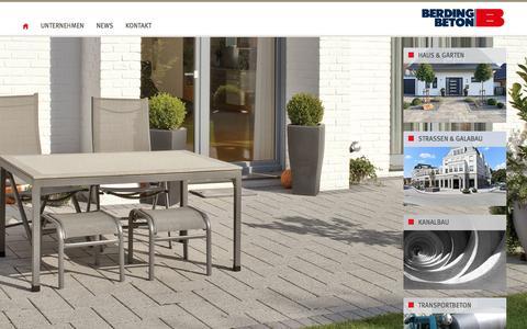 Screenshot of Home Page berdingbeton.de - WILLKOMMEN BEI BERDING BETON - captured March 27, 2017