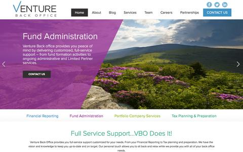 Screenshot of Home Page venturebackoffice.com - Home - venturebackoffice - captured Feb. 23, 2016