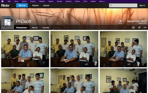 Screenshot of Flickr Page flickr.com - Flickr: PhDsoft's Photostream - captured Oct. 22, 2014