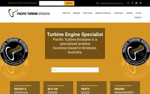 Screenshot of Home Page pacificturbine.com.au - Home - Pacific Turbine Brisbane - captured Nov. 9, 2018