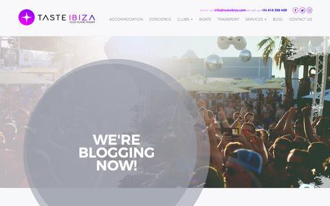Screenshot of Blog tasteibiza.com - Blog - Taste Ibiza - captured Jan. 15, 2018