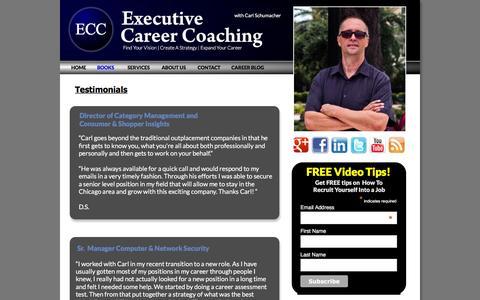 Screenshot of Testimonials Page executive-careercoaching.com - Executive Career Coaching with Carl Schumacher - captured Dec. 13, 2015