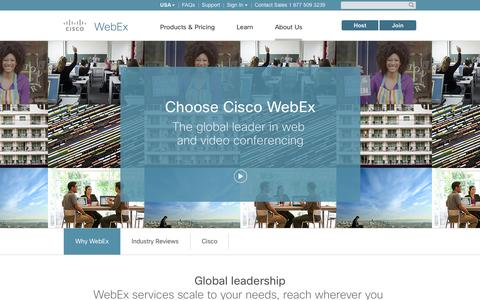 Screenshot of About Page webex.com - Cisco WebEx — the global leader in video conferencing. - captured Sept. 30, 2015