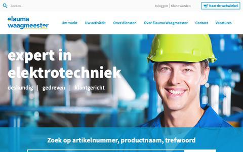 Screenshot of Home Page elauma.nl - Elektrotechnische groothandel - Elauma Waagmeester - captured Sept. 27, 2018