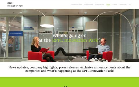 Screenshot of Press Page epfl-innovationpark.ch - News   Epfl-innovationpark.ch, EPFL Innovation Park - captured Dec. 6, 2015