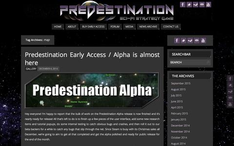 Screenshot of Maps & Directions Page predestinationgame.com - map   - Predestination - an indie space 4X game - captured Sept. 24, 2015