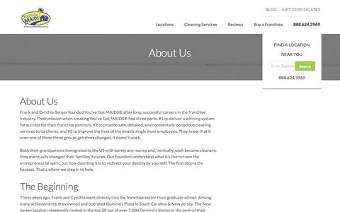 Screenshot of About Page youvegotmaids.com - All About You've Got Maids | About Us - captured Dec. 2, 2016