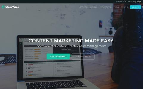 Complete Content Marketing Software | ClearVoice