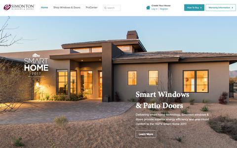 Screenshot of Home Page simonton.com - Vinyl Replacement Windows & Doors   Simonton Windows & Doors - captured Aug. 1, 2017