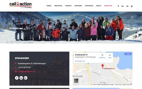 Kontakt oss - Call2action Stavanger AS