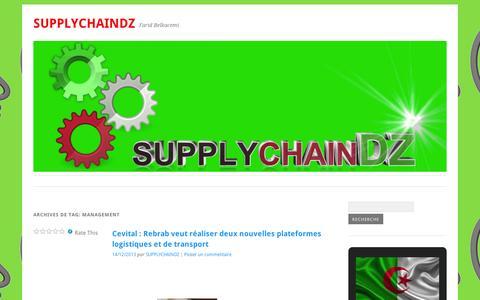 Screenshot of Team Page wordpress.com - management | SupplychainDZ - captured Sept. 12, 2014