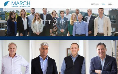 Screenshot of Team Page marchcp.com - March CP |   Meet Our Team - captured Nov. 11, 2018