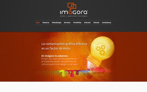 Screenshot of Home Page imagora.mx - Imágora - captured Sept. 12, 2015
