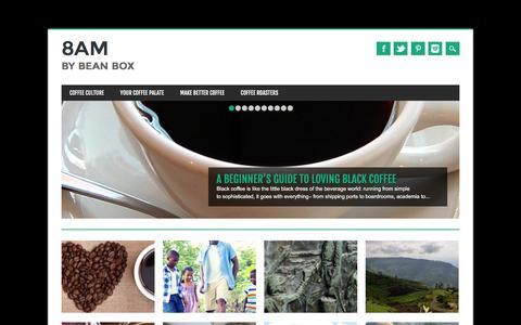Screenshot of Blog beanbox.co - 8AM - Bringing Artisan Coffee to Everyone | Bean Box - captured Jan. 29, 2017