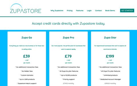 Screenshot of Pricing Page zupastore.co.uk - Pricing - captured Dec. 7, 2018
