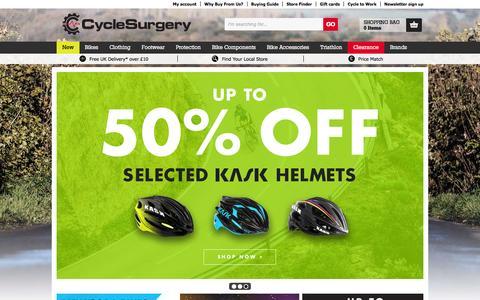 Screenshot of Home Page cyclesurgery.com - UK Bike Shop | Online Cycle Store Đ CycleSurgery - CycleSurgery - captured Dec. 14, 2015