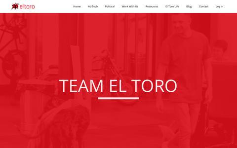 Screenshot of Team Page eltoro.com - Team El Toro - Meet the El Toro IP Targeting Team - captured Dec. 3, 2017