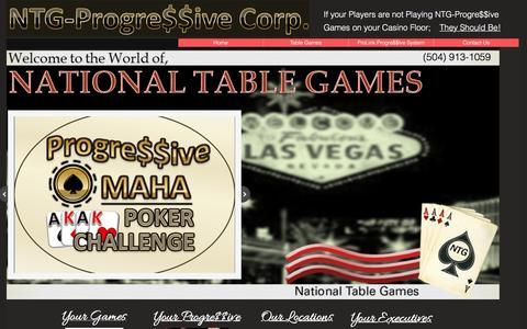 Screenshot of Home Page nationaltg.com - Home - captured Feb. 17, 2016