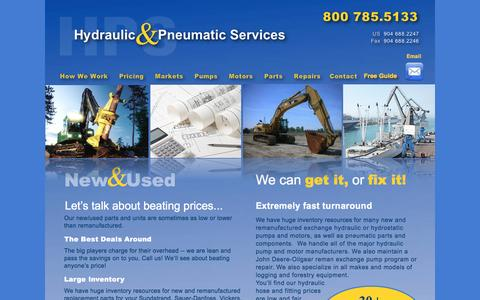 Screenshot of Pricing Page hydraulicpneumaticrepair.com - hydraulic pricing various components - captured Nov. 15, 2016