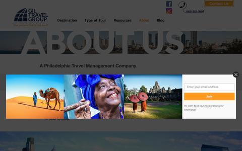 Screenshot of About Page giltravel.com - About Us | Philadelphia Travel Agency - captured July 19, 2018