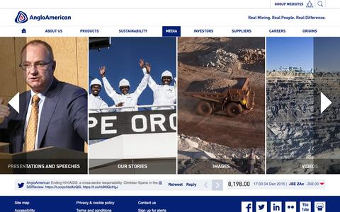 Screenshot of Press Page angloamerican.com - Media � Anglo American - captured Dec. 4, 2015