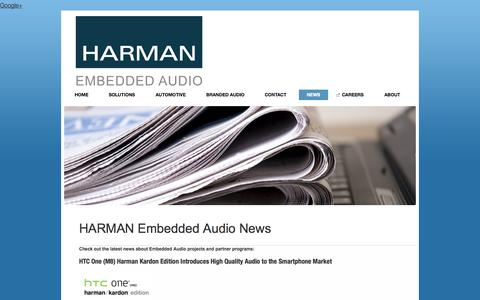 Screenshot of Press Page harmanacoustics.com - High Quality Audio Solutions - Audio Solutions News - captured Oct. 3, 2014