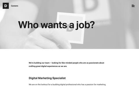 Screenshot of Jobs Page durkangroup.com - Find Web Design & Digital Marketing careers in Philly | Durkan Group - captured July 14, 2018