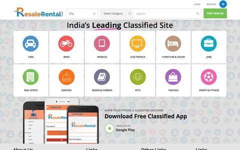 Screenshot of Home Page resalerental.com - Free Classified Ads Posting  –  Resale Rental - captured June 13, 2017