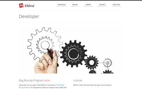 Screenshot of Developers Page xmind.net - Developer - XMind: The Most Professional Mind Map Software - captured Oct. 10, 2014