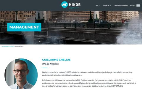 Screenshot of Team Page hikob.com - Les fondateurs et l'équipe dirigeante de Hikob - captured July 19, 2018