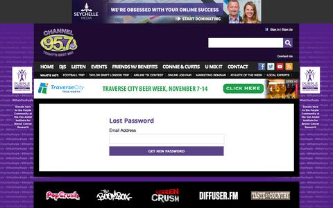 Screenshot of Login Page mychannel957.com - My Channel 95.7FM – Best Variety of the 80's, 90's, and Now – Grand Rapids Pop Radio - captured Oct. 30, 2014