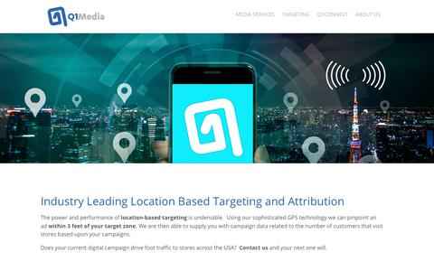 Q1Media Media Services, Location Based Targeting for Agencies