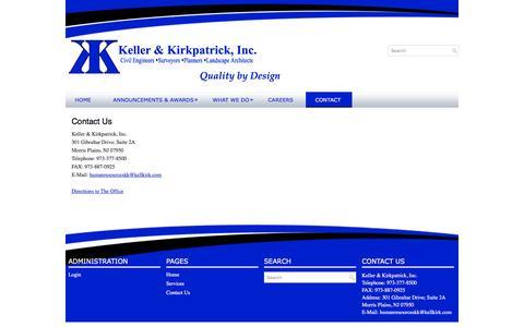 Screenshot of Contact Page kellkirk.com - Contact Us | Keller & Kirkpatrick, Inc. - captured Nov. 27, 2016