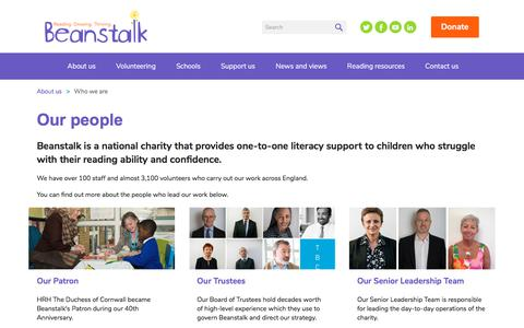 Screenshot of Team Page beanstalkcharity.org.uk - Beanstalk | Pages | Our people - captured Oct. 10, 2017