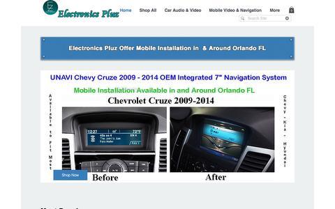 Screenshot of Home Page electronics-pluz.com - Electronics Pluz Consumer, Professional & Automotive Electronics Store - captured June 30, 2018