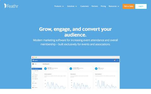Screenshot of Home Page feathr.co - Feathr | Audience Growth and Monetization Software - captured July 13, 2018