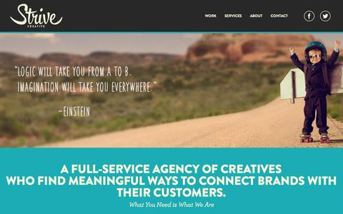 Screenshot of Home Page strivecreative.com - Strive Creative - captured Oct. 7, 2014