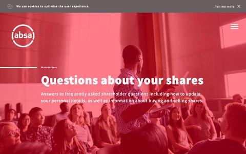 Screenshot of FAQ Page absa.africa - Frequently asked questions - captured Oct. 5, 2018