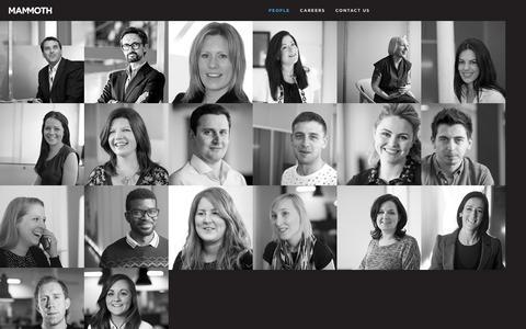 Screenshot of Team Page mammoth.tv - Mammoth - Brand Creation, Design, Digital and Advertising in Belfast, Northern Ireland - Home - captured Dec. 21, 2015