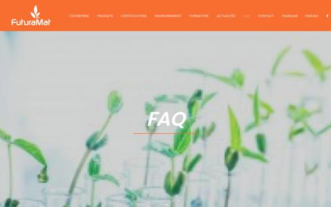 Screenshot of FAQ Page futuramat.com - FAQ | Futuramat - captured Sept. 3, 2018