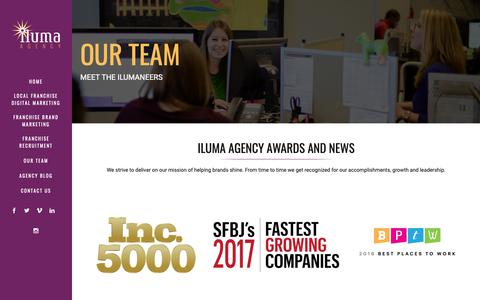 Screenshot of Team Page ilumaagency.com - Digital Marketing Agency Team Members | Iluma Agency - captured Feb. 21, 2019