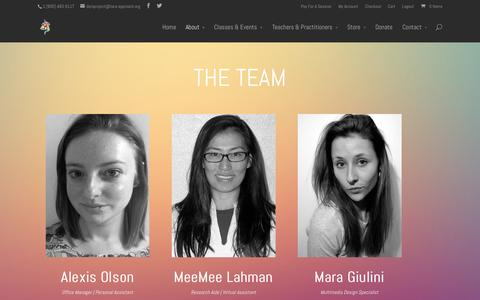 Screenshot of Team Page tara-approach.org - The Team | The TARA Approach - captured Oct. 6, 2014