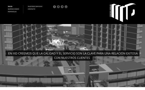 Screenshot of Home Page iii-d.com - III-D - captured Oct. 1, 2014