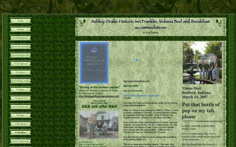 Screenshot of Press Page ashleydrakeinn.com - In the News - captured Oct. 4, 2014