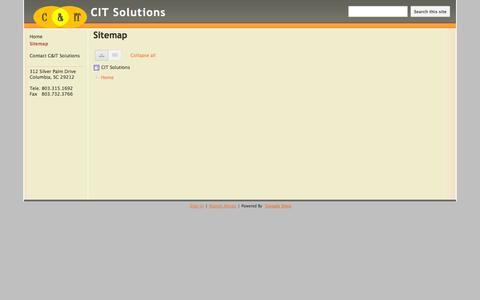 Screenshot of Site Map Page citsltns.com - Sitemap - CIT Solutions - captured Oct. 1, 2014