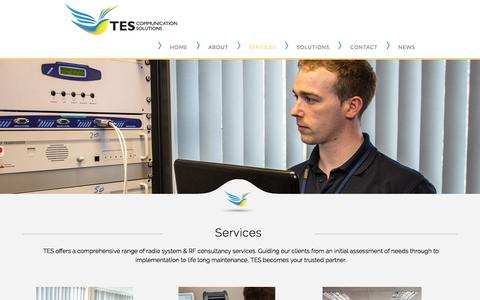 Screenshot of Services Page tesradio.com - TES Services. We supply and design integrated radio systems across the UK. - captured Feb. 25, 2016