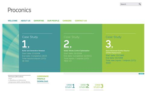 Screenshot of Case Studies Page proconics.co.za - Case Studies - captured Sept. 30, 2014