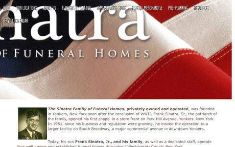 Screenshot of About Page sinatraffh.com - About Us | Sinatra Family of Funeral Homes located in Yonkers, New ... - captured Oct. 18, 2018